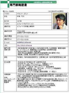 滋賀県産業支援プラザ専門家登録 中島巧次