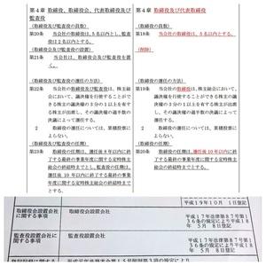 取締役会・監査役廃止の定款変更