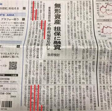 20201013日経-無形資産担保に融資-事業価値を評価.jpg