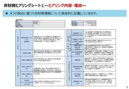 ローカルベンチマーク参考ツール利用マニュアルと知的資産経営の支援の進め方の類似性